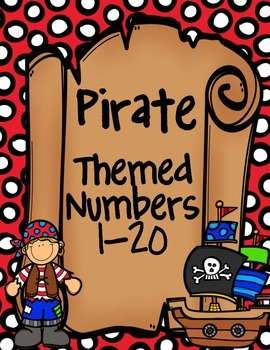 Pirate Themed Number Line 0-20