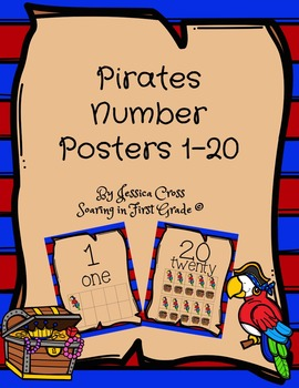 Pirate Themed Number Posters 1-20