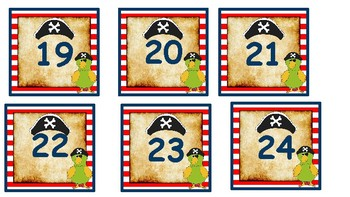 Pirate Themed Number and Letter Labels