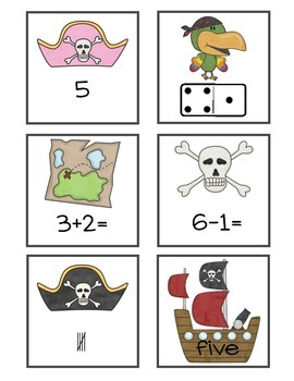 Pirate Themed Numbers 0-5 Match