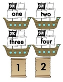 Pirate Themed Numeral and Number Word Match