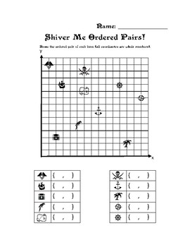 Pirate Themed Ordered Pairs