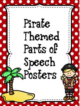 Pirate Themed Parts of Speech Posters