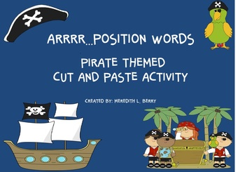 Pirate Themed Position Word Activity