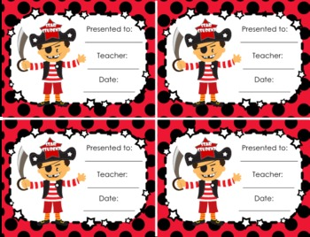 Pirate Themed Postcards Students Notes