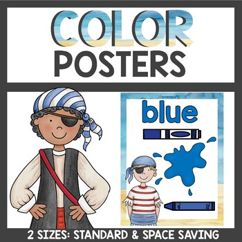 Pirate Theme Color Posters