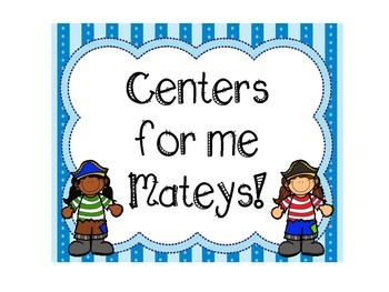 Pirate Themed Pre-K Center Signs