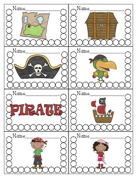 Pirate Themed Punch Cards