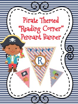 Pirate Themed Read-Reading Corner Pennant Banner
