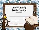 Pirate Themed Reading Award- blank