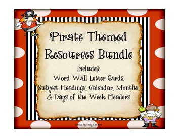 Pirate Themed Resources Bundle