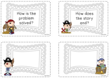 Pirate Themed Retelling Cards for Literature and Informational Text