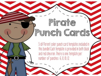 Pirate Themed Reward Punch Cards