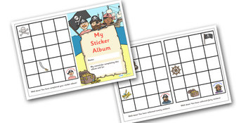 Pirate Themed Reward Sticker Album