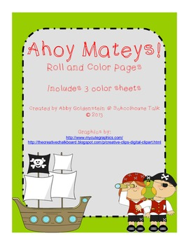 Pirate-Themed Roll and Color Pages