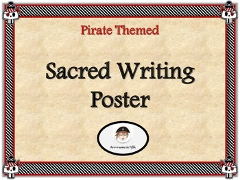 Pirate Themed Sacred Writing Poster