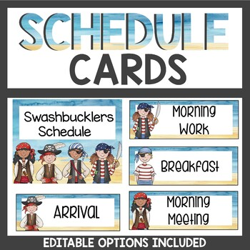 Pirate Themed Schedule Cards