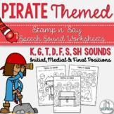 Pirate Themed Speech Sound Worksheets- No Prep