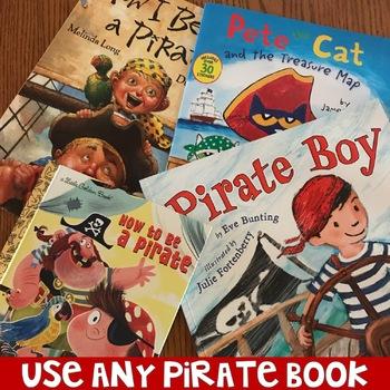 No Prep Pirate Themed Speech and Language Book Companion