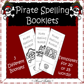 Pirate Themed Spelling Booklet Templates