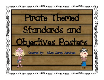 Pirate Themed Standards and Objectives Posters