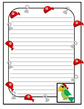 Pirate Themed Stationary