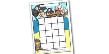 Pirate Themed Sticker/Stamp Reward Chart
