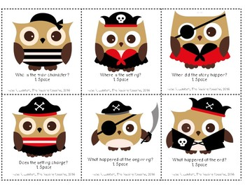 Pirate Themed Story Comprehension and Retell Game