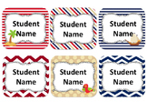 Pirate Themed Student Name Cards {Editable}