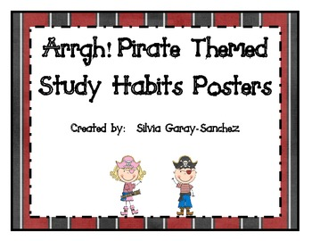 Pirate Themed Study Habits Posters