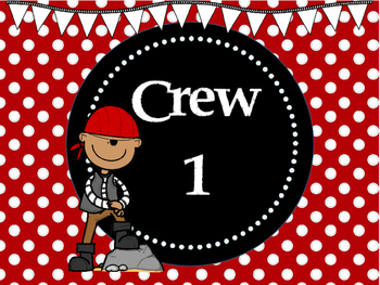Pirate Themed Table Group Signs