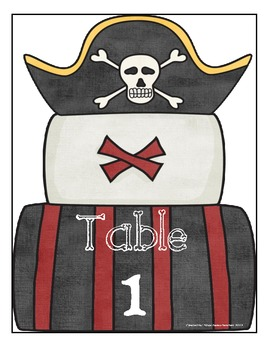 Pirate Themed Table Numbers