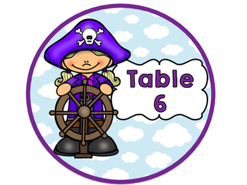 Pirate Themed Table Signs