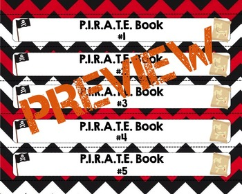 """Pirate Themed """"Take Home"""" Binders with Spine Labels (1.5 inch binders)"""