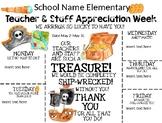 Pirate Themed Teacher Appreciation Week Editable Printable