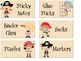 Pirate Themed Teacher Toolbox Labels Editable- Add Text