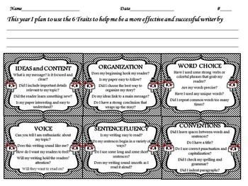 Pirate Themed Six Traits of Writing Interactive Journal Bundle