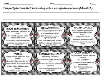 Pirate Themed Six Traits of Writing Interactive Journal Bundle