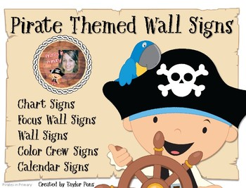 Pirate Themed Wall Signs BUNDLE