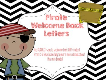 Pirate Themed Welcome Back Letters