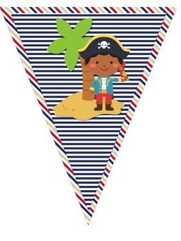 Pirate Themed Welcome Pennant Banner