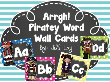 Pirate Themed Word Wall Alphabet Cards