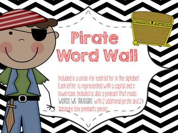 Pirate Themed Word Wall Display