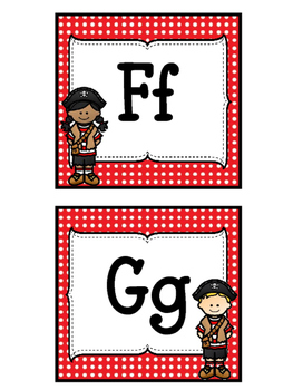 Pirate Themed Word Wall Headers