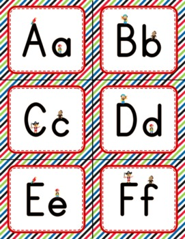 Pirate Themed Word Wall Labels // Alphabet Flashcards