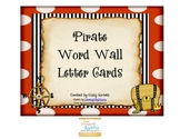 Pirate Themed Word Wall Letter Cards