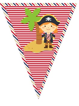 Pirate Themed Word Wall Pennant Banner