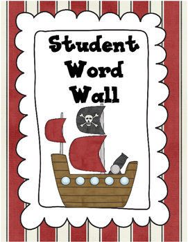 Pirate Themed Word Wall - Student's Personal Word Wall