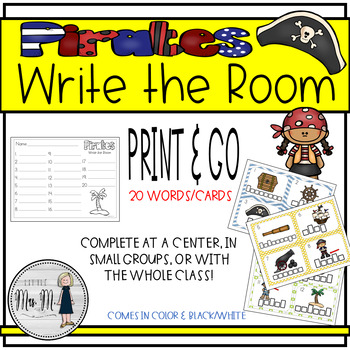 Pirate Themed Write the Room Language Arts Activity {Talk Like a Pirate Day}