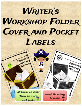 Pirate Themed Writer's Workshop Folder Cover and Pocket Labels